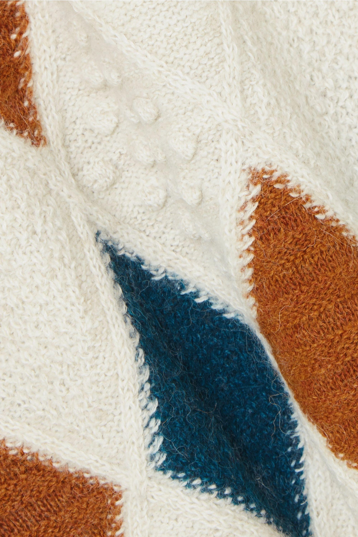 Isabel Marant Étoile Gink Pullover aus einer Alpakamischung mit Argyle-Muster