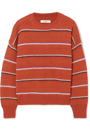 Gatlin striped alpaca-blend sweater