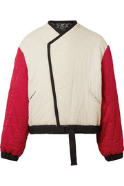 Hanae reversible quilted cotton jacket