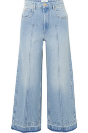 Cabrio cropped high-rise wide-leg jeans