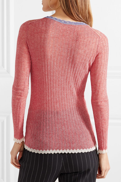 Isabel Marant Étoile Aggy gerippter Pullover aus Baumwolle