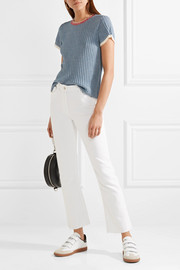Amberly ribbed cotton top