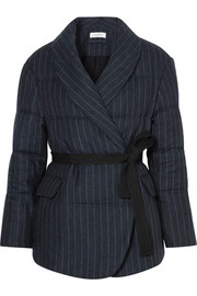 Isabel Marant Étoile Jaron quilted pinstriped linen jacket