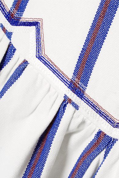 Isabel Marant Étoile Delia gestreifter Minirock aus Baumwollgewebe mit Stickerei