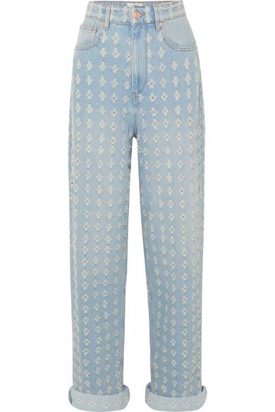 Isabel Marant Étoile Cory Boyfriend-Jeans in Distressed-Optik