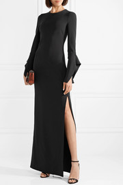 Silk-crepe gown