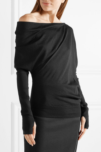 TOM FORD Asymmetrischer Pullover aus einer Kaschmir-Seidenmischung