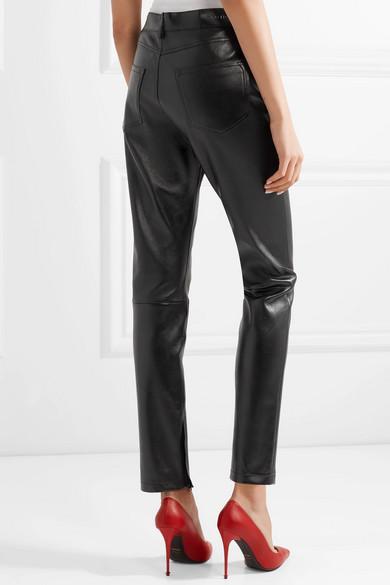 TOM FORD Eng geschnittene Hose aus Stretch-Glanzleder Aussicht Neueste Zum Verkauf Modestil jRbXgO