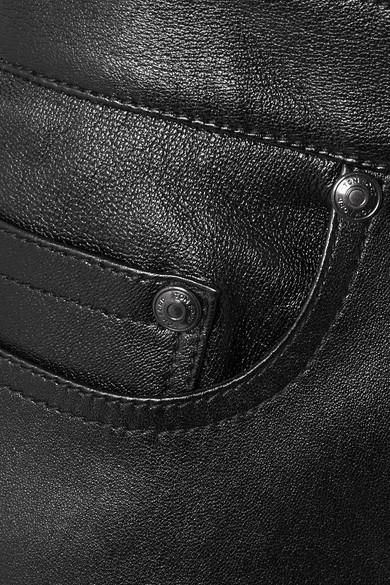 TOM FORD Eng geschnittene Hose aus Stretch-Glanzleder