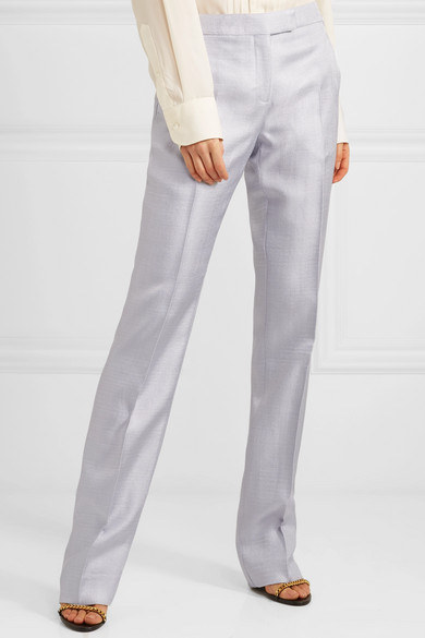 TOM FORD Hose mit geradem Bein mit Metallic-Finish
