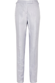 TOM FORD Metallic woven straight-leg pants