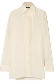TOM FORD Pintucked twill shirt