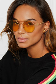 Sunday Somewhere Goldie round-frame gold-tone sunglasses