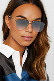 Sunday Somewhere Wayan aviator-style silver-tone sunglasses