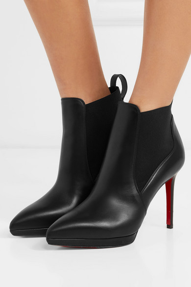 details for new specials affordable price Christian Louboutin | Crochinetta 100 leather ankle boots ...