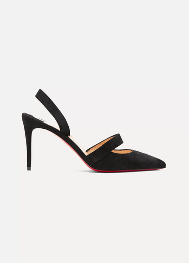 low priced d6858 56a45 Actina 85 suede slingback pumps