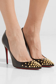 Christian Louboutin Spikyshell 100 embellished leather pumps