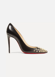 Spikyshell 100 embellished leather pumps
