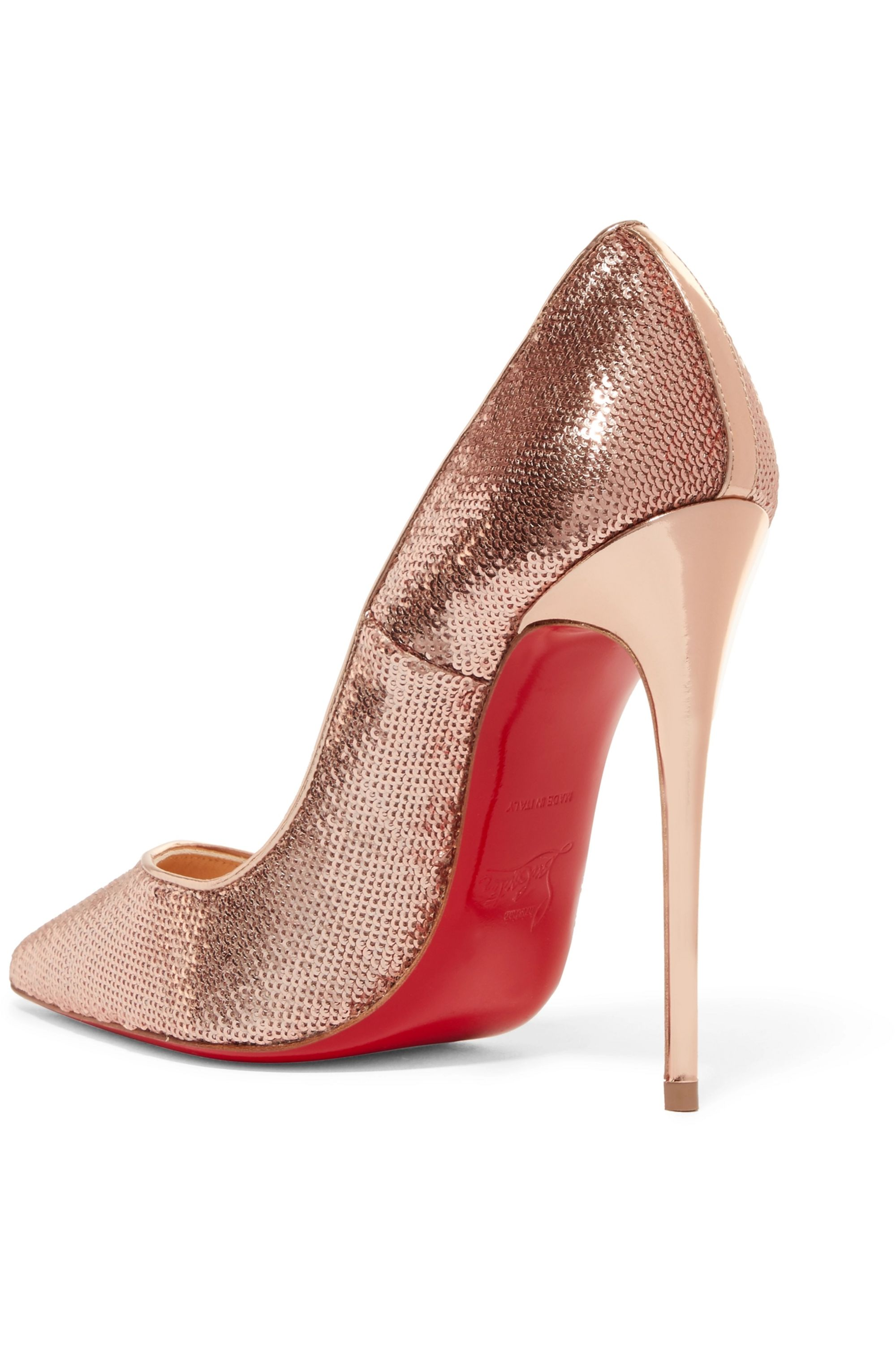 Christian Louboutin So Kate 120 sequined canvas pumps