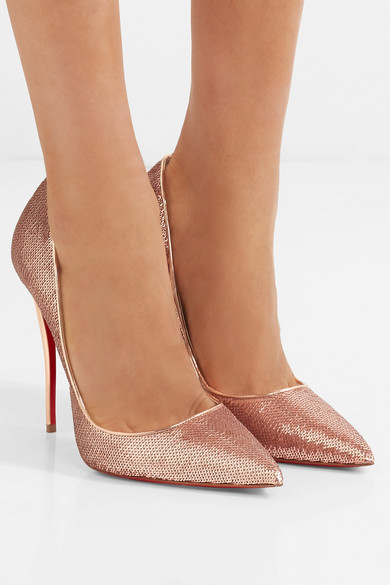 995b649c41ef Christian Louboutin. So Kate 120 sequined canvas pumps
