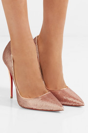So Kate 120 sequined canvas pumps