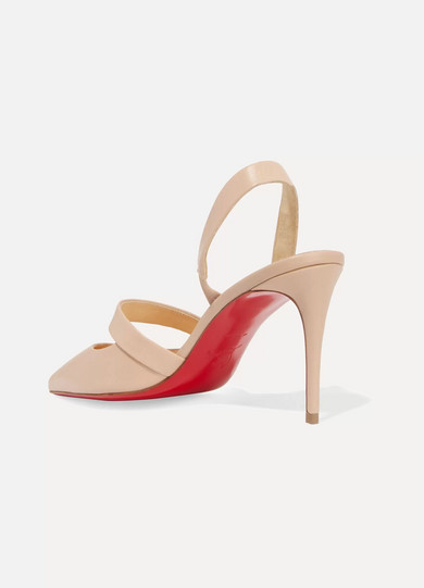 6e1d89984357 Christian Louboutin. Actina 85 leather slingback pumps.  795. Zoom In