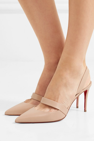 huge discount 313cc a221e Christian Louboutin | Actina 85 leather slingback pumps ...