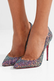 Pigalle Follies 100 glittered leather pumps