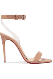 Christian Louboutin Jonatina 100 PVC-trimmed leather sandals