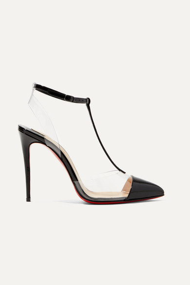 aa23738b1256 Christian Louboutin. Nosy 100 patent-leather and PVC T-bar pumps