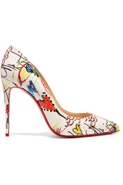 Christian Louboutin Pigalle 100 printed patent-leather pumps