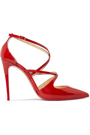 Christian Louboutin Crossfliketa 100 patent leather pumps