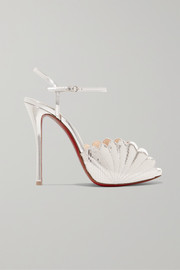 Christian Louboutin Botticella 120 metallic lizard-effect leather sandals