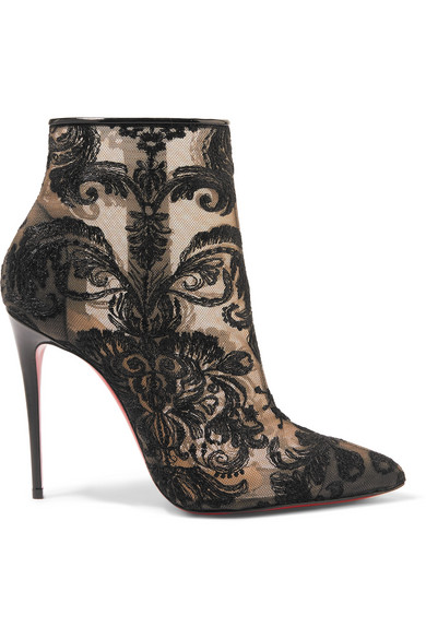 Christian 100 Louboutin | Gipsy 100 Christian Ankle Boots aus Guipure-Spitze a323c6