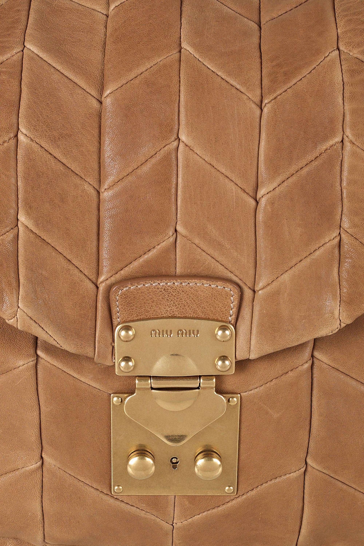 Miu Miu Patchwork leather hobo bag