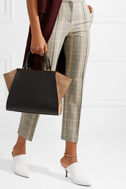 Fendi 3Jours suede-paneled leather tote