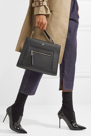 Runaway small leather tote