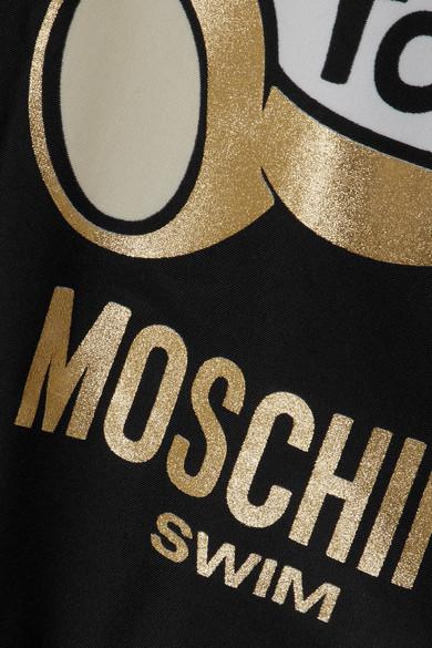 Moschino Badeanzug mit Metallic-Druck Genießen Günstig Online Spielraum 2018 Rabatt 2018 Unisex 9tzE66i83M