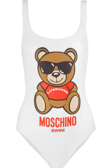 Moschino - Printed Swimsuit - White