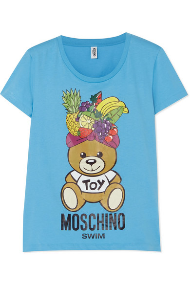Moschino Fashion Fruits T-Shirt aus bedrucktem Baumwoll-Jersey