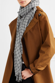 Isabel Marant Woody checked wool scarf