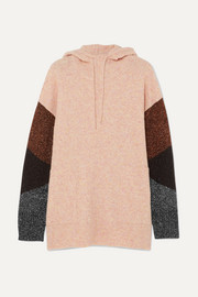 By Malene Birger Brunilde hooded metallic-paneled knitted sweater
