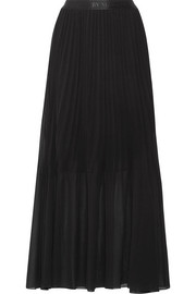 Lallah pleated chiffon maxi skirt