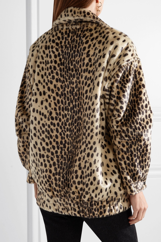 By Malene Birger Tidara oversized leopard-print faux calf hair bomber jacket