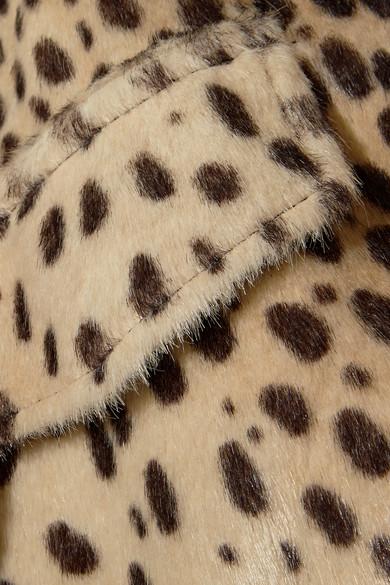 By Malene Birger Tidara Bomberjacke aus Kalbshaarimitat mit Leopardenprint in Oversized-Passform