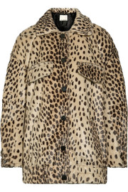 By Malene Birger Tidara oversized leopard-print faux calf hair bomber jacket