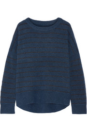 Andoles metallic striped knitted sweater