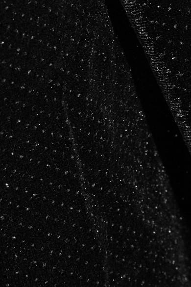 By Malene Birger Jannina Kleid aus Stretch-Samt mit Metallic-Effekt in Wickeloptik