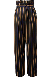 Wenyana striped wool-blend straight-leg pants