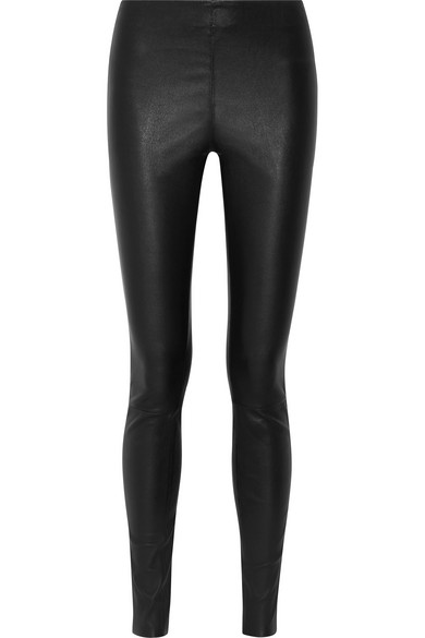 Elenasoo Stretch-leather Leggings - Black By Malene Birger dmAG52m2